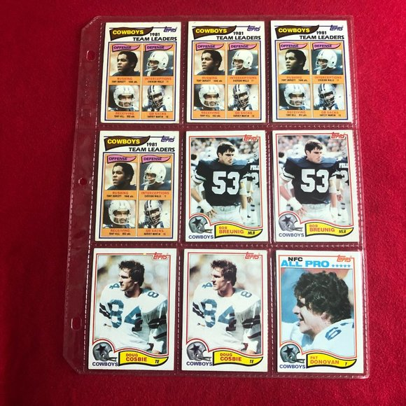 1982 TOPPS NFL Dallas Cowboys 🤠 Trading Cards.